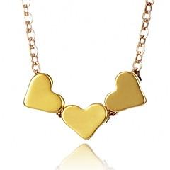 preiswerte Halsketten-Damen Anhängerketten - Herz Modisch Gold, Silber Modische Halsketten Für Alltag, Büro & Karriere