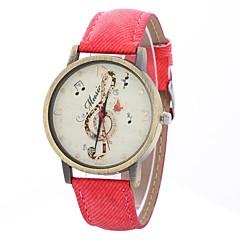 preiswerte Damenuhren-Damen Armbanduhr Chinesisch Großes Ziffernblatt PU Band Freizeit / Minimalistisch Schwarz / Weiß / Blau