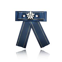 お買い得  ブローチ-女性用 リボン ラインストーン ブローチ  -  フォーマル / ファッション / 欧風 リボン パープル / レッド / ネービーブルー ブローチ 用途 式典 / フォーマル