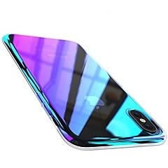 Недорогие Кейсы для iPhone-Кейс для Назначение Apple iPhone X iPhone 8 Plus Покрытие Кейс на заднюю панель Градиент цвета Твердый ПК для iPhone X iPhone 8 Pluss