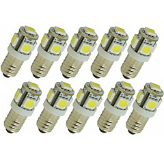 cheap LED Bulbs-SENCART 10pcs 1.5W 90lm G4 E11 LED Bi-pin Lights T 5 LED Beads SMD 5050 Decorative Warm White White Green Yellow Blue Red 12V