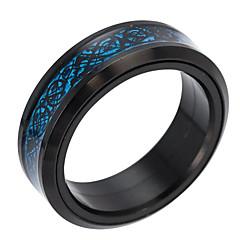 お買い得  指輪-男性用 バンドリング - 幾何学形 ファッション ゴールド / ブラック / シルバー リング 用途 日常