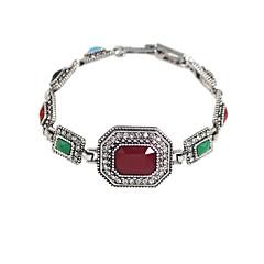 Χαμηλού Κόστους Βραχιόλια-Γυναικεία Βραχιόλι Στρας Βίντατζ Πολύχρωμα Etnic Ρητίνη Χαλκός Geometric Shape Κοσμήματα Εξόδου Αργίες Κοστούμια Κοσμήματα