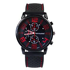お買い得  大特価腕時計-男性用 ファッションウォッチ 日本産 カジュアルウォッチ シリコーン バンド チャーム ブラック