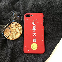Недорогие Кейсы для iPhone-Кейс для Назначение Apple iPhone X iPhone 7 Plus С узором Кейс на заднюю панель Слова / выражения Твердый Акрил для iPhone X iPhone 8
