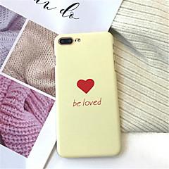 Недорогие Кейсы для iPhone-Кейс для Назначение Apple iPhone X iPhone 7 Plus Матовое С узором Кейс на заднюю панель Слова / выражения Твердый Акрил для iPhone X