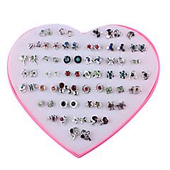 お買い得  イヤリング-女性用 36組 スタッドピアス  -  ファッション レインボー 幾何学形 イヤリング 用途 日常