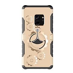 Недорогие Универсальные чехлы и сумочки-Кейс для Назначение SSamsung Galaxy S9 S9 Plus со стендом С ремешком на руку Сплошной цвет Твердый пластик для S9 Plus S9 S8 Plus S8