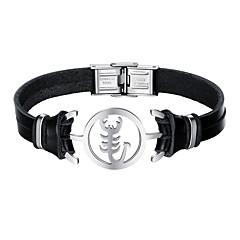 billige Armbånd-Herre Lær Kul Armbånd - Fritid Skorpion Svart Armbånd Til Daglig Stevnemøte