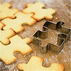 halpa -Bakeware-työkalut Ruostumaton teräs Creative Kitchen Gadget Cookie / For Keittoastiat Neliö Piparimuotit / pasta Työkalut 1kpl