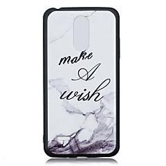 Недорогие Чехлы и кейсы для LG-Кейс для Назначение LG K8 (2017) K10 (2017) С узором Кейс на заднюю панель Слова / выражения Мягкий ТПУ для LG K10 LG K10 (2017) LG K8