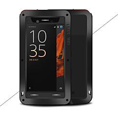 Недорогие Чехлы и кейсы для Sony-Кейс для Назначение Sony Xperia XZ Вода / Грязь / Надежная защита от повреждений Чехол Сплошной цвет Твердый Металл для Sony Xperia XZ