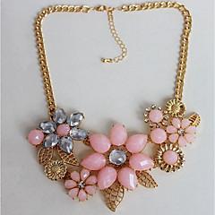 preiswerte Halsketten-Damen Chrysolith Kragen - Blume Klassisch, Modisch, überdimensional Gold Modische Halsketten Für Party