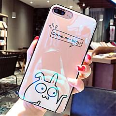 Недорогие Кейсы для iPhone 6-Кейс для Назначение Apple iPhone X iPhone 7 Plus С узором Кейс на заднюю панель Мультипликация Мягкий ТПУ для iPhone X iPhone 8 Pluss
