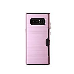 Недорогие Чехлы и кейсы для Galaxy Note 5-Кейс для Назначение SSamsung Galaxy Note 8 Note 5 Бумажник для карт Кейс на заднюю панель Сплошной цвет Твердый пластик для Note 8 Note 5