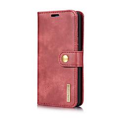 Недорогие Чехлы и кейсы для LG-Кейс для Назначение LG G6 Бумажник для карт со стендом Флип Чехол Сплошной цвет Твердый Настоящая кожа для LG G6