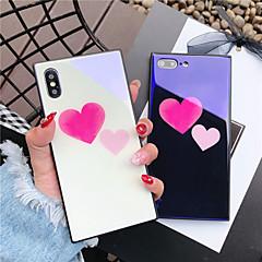 Недорогие Кейсы для iPhone 7-Кейс для Назначение Apple iPhone X iPhone 8 Защита от удара С узором Кейс на заднюю панель С сердцем Твердый Закаленное стекло для iPhone