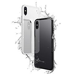 Недорогие Кейсы для iPhone 6 Plus-Кейс для Назначение Apple iPhone X iPhone 8 Plus Прозрачный Кейс на заднюю панель Однотонный Твердый Закаленное стекло для iPhone X