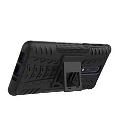 Недорогие Чехлы и кейсы для Nokia-Кейс для Назначение Nokia Nokia 8 Nokia 6 Защита от удара со стендом броня Кейс на заднюю панель Плитка броня Твердый ПК для Nokia 8