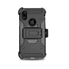 お買い得  iPhone 5S/SE ケース-ケース 用途 Apple iPhone X iPhone 8 Plus 耐衝撃 スタンド付き 鎧 バックカバー 鎧 ハード PC のために iPhone X iPhone 8 Plus iPhone 8 iPhone 7 Plus iPhone 7 iPhone 6s