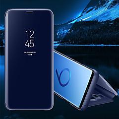 voordelige Galaxy S6 Edge Hoesjes / covers-hoesje Voor Samsung Galaxy S8 Plus S8 met standaard Spiegel Flip Auto Slapen/Ontwaken Volledig hoesje Effen Kleur Hard PU-nahka voor S8