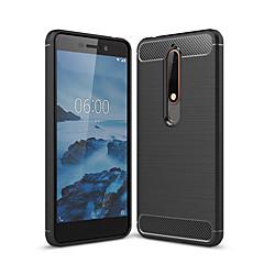 Недорогие Чехлы и кейсы для Nokia-Кейс для Назначение Nokia Nokia 6 2018 Матовое Кейс на заднюю панель Однотонный Мягкий ТПУ для Nokia 6 2018