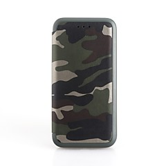 Χαμηλού Κόστους Galaxy S6 Edge Θήκες / Καλύμματα-tok Για Samsung Galaxy S9 S9 Plus Θήκη καρτών με βάση στήριξης Ανοιγόμενη Πλήρης Θήκη Καμουφλάζ Σκληρή PU δέρμα για S9 Plus S9 S8 Plus S8