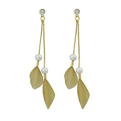 preiswerte Ohrringe-Damen Tropfen-Ohrringe - Feder Modisch Grau / Fuchsia / Kaffee Für Geschenk / Verabredung