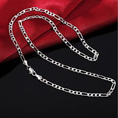 お買い得  ネックレス-チェーンネックレス  -  銀メッキ シンプル シルバー 45 cm ネックレス 用途 日常