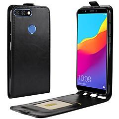 Недорогие Чехлы и кейсы для Huawei серии Y-Nillkin Кейс для Назначение Huawei Y9 (2018)(Enjoy 8 Plus) / Y7 Prime (2018) Бумажник для карт / Флип Чехол Однотонный Твердый Кожа PU для Y9 (2018)(Enjoy 8 Plus) / Huawei Y7 Prime(Enjoy 7 Plus) / Y7
