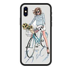 Недорогие Кейсы для iPhone 5-Кейс для Назначение Apple iPhone X iPhone 8 Plus С узором Кейс на заднюю панель Цветы Мультипликация Твердый Акрил для iPhone X iPhone 8