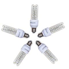 preiswerte LED-Birnen-5 Stück 9W 720lm E26 / E27 LED Mais-Birnen T 48 LED-Perlen SMD 2835 Kühles Weiß 220-240V