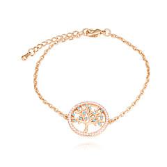 preiswerte Armbänder-Damen Kubikzirkonia Armband - Baum des Lebens Europäisch, Modisch Armbänder Gold / Rotgold Für Alltag