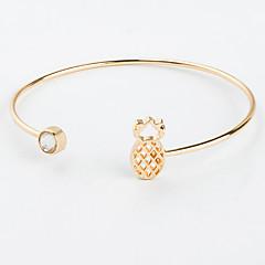 preiswerte Armbänder-Damen Kubikzirkonia Manschetten-Armbänder - Zirkon Ananas Modisch Armbänder Gold / Schwarz / Silber Für Ausgehen Klub