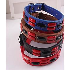 お買い得  犬用首輪/リード/ハーネス-犬用 猫用 カラー サイズが調整できます。 携帯用 折り畳み式 ソリッド 幾何学的な PUレザー / ポリウレタンレザー ブラック レッド ブルー