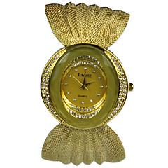 preiswerte Damenuhren-Damen Armbanduhr Imitation Diamant Stoff Band Freizeit / Modisch Silber / Gold