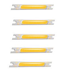 abordables Ledes-zdm 5 unids cob 3w dc 12 v luminoso blanco cálido / blanco / bombilla accesorio led chip de aluminio para diy reflector de luz de inundación led