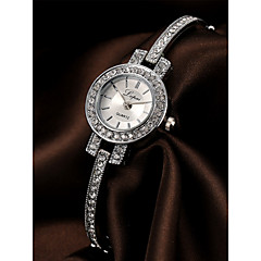 cheap Bracelet Watches-Women's Bracelet Watch Chinese Chronograph / Imitation Diamond / Casual Watch Alloy Band Luxury / Elegant Silver / Rose Gold