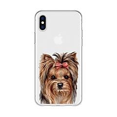 Недорогие Кейсы для iPhone 7-Кейс для Назначение Apple iPhone X / iPhone 8 Plus С узором Кейс на заднюю панель С собакой / Животное / Мультипликация Мягкий ТПУ для iPhone X / iPhone 8 Pluss / iPhone 8