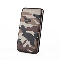 abordables Galaxy A3 Carcasas / Fundas-Funda Para Samsung Galaxy J7 Prime J5 Prime Soporte de Coche con Soporte Flip Funda de Cuerpo Entero Color Camuflaje Dura Cuero de PU para