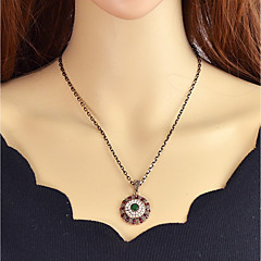 preiswerte Halsketten-Synthetischer Turmalin Anhängerketten - Rot, Dunkelgrün 52.5 cm Modische Halsketten Für Party / Abend, Schultaschen