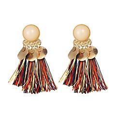 abordables Bijoux pour Femme-Femme Glands Boucles d'oreille goutte - Gland, Mode Arc-en-ciel / Rouge / Vert foncé Pour Soirée Rendez-vous