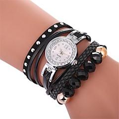 preiswerte Damenuhren-Damen Quartz Simulierter Diamant Uhr Armband-Uhr Armbanduhren für den Alltag Chinesisch Imitation Diamant Armbanduhren für den Alltag PU