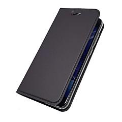 voordelige Hoesjes / covers voor Huawei-hoesje Voor Huawei Nova 2 Plus Nova 2 Kaarthouder met standaard Flip Magnetisch Volledig hoesje Effen Hard PU-nahka voor Huawei Enjoy 7S