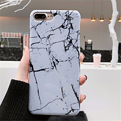 Недорогие Кейсы для iPhone 7-Кейс для Назначение Apple iPhone X iPhone 7 Plus С узором Кейс на заднюю панель Мрамор Твердый ПК для iPhone X iPhone 8 Pluss iPhone 8