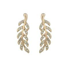 preiswerte Ohrringe-Tropfen-Ohrringe - Blattform Modisch Gold / Silber / Rotgold Für Alltag Verabredung