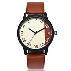 preiswerte Damenuhren-Herrn Damen Quartz Einzigartige kreative Uhr Chinesisch Armbanduhren für den Alltag PU Band Freizeit Modisch Schwarz Braun Grün Dunkelgrün