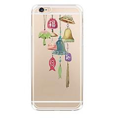 Недорогие Кейсы для iPhone-Кейс для Назначение Apple iPhone 6 Прозрачный С узором Кейс на заднюю панель Панк Мягкий ТПУ для iPhone 6