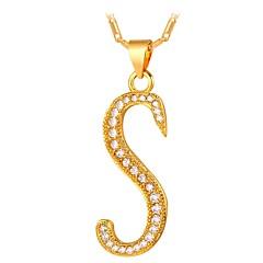 preiswerte Halsketten-Herrn / Damen Kubikzirkonia Anhängerketten - Zirkon Eule Modisch Gold, Silber 55 cm Modische Halsketten Für Alltag