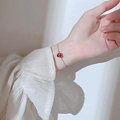 preiswerte Armbänder-Kubikzirkonia Ketten- & Glieder-Armbänder - Roségold, Sterling Silber Herz damas, Einfach, Süß, Modisch Armbänder Silber / Rotgold Für Geschenk Alltag